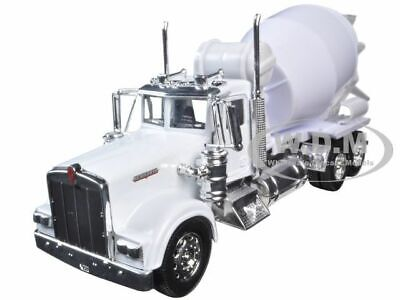 KENWORTH W900 CEMENT MIXER TRUCK WHITE 1/32 DIECAST MODEL BY NEW RAY 10533 - Mixer Truck