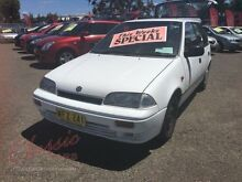 1997 Suzuki Swift Cino White 3 Speed Automatic Hatchback Lansvale Liverpool Area Preview