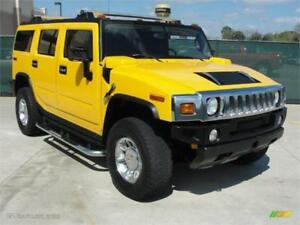 2006 HUMMER H2 4X4 YELLOW ON BLACK 6PASSENGERS