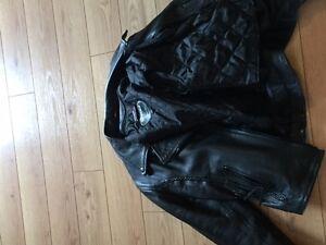 Leather Bike Jacket Ladies
