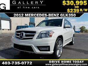 2012 Mercedes GLK350 4Matic $239 BI-WEEKLY APPLY NOW DRIVE NOW