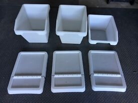 Ikea Sortera Storage or Recycling Boxes With Lids - 2 x 60L and 1 x 37L