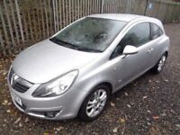 VAUXHALL CORSA 1.2 SXI 2008 3 DOOR SILVER 66,000 MILES FULL SERVICE HISTORY M.O.T 12 MONTHS