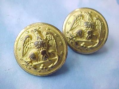 """2  3/4"""" Brass WW II U.S. Military Uniform Buttons Waterbury"""