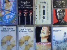 A-Z 2x RADIOHEAD, 2x CLIFF RICHARD, 2x ROLLING STONES, 2x DIANA ROSS PRERECORDED CASSETTE TAPES