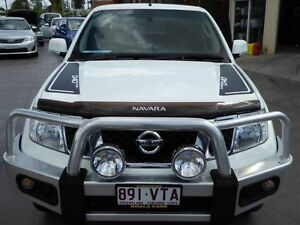 2012 Nissan Navara D40 MY12 ST 25th Anniversary LE (4x4) White 6 Speed Manual Dual Cab Pick-up Strathpine Pine Rivers Area Preview