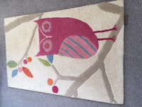 """Harlequin """"What a Hoot"""" Childrens Rug , Candy L140 x W90CM"""