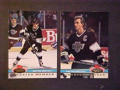 2  1991 92 Stadium Club Wayne Gretzky Charter Member Cards  No 2000 700 Club