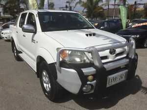2008 Toyota Hilux KUN26R 07 Upgrade SR5 (4x4) White 4 Speed Automatic Dual Cab Pick-up Broadview Port Adelaide Area Preview