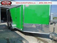 SUMMER SPECIAL 7 X 19' ROUND TOP ALL PURPOSE TRAILER ALUMINUM