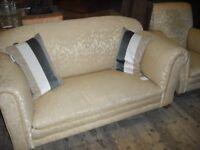 Circa 1920's Drop Arm Sofa & 2 Arm Chairs