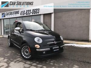 2012 Fiat 500 CONVT-AUTOMATIC-LEATHER