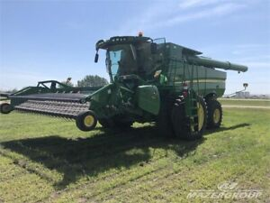 John Deere S680 Rotary Combine - HID's, Long Auger, GS3 Monitor
