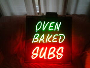 Oven Baked Subs Neon Sign