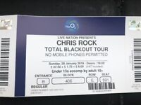 Chris Rock Tickets x 2 - Total Blackout - Sunday 28th January O2 - £150