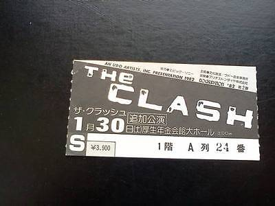 The Clash Joe Strummer ticket Koseinenkin Hall Tokyo 30/01/82