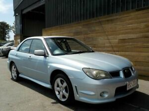 2005 Subaru Impreza S MY06 R AWD Blue 5 Speed Manual Sedan Labrador Gold Coast City Preview