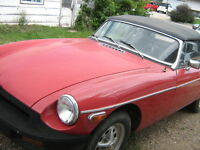 Red Convertible MGB