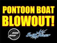 Pontoon Boat Blowout! Clearout! Fall Sale! Price Reductions!