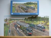 Gibsons jig saw puzzel New Forest train junction bournemouth belle