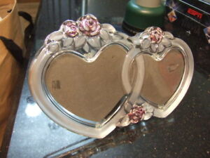 Mikasa Crystal Double Heart picture frame,1749
