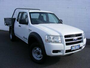 2008 Ford Ranger PJ XL Super Cab White 5 Speed Manual Cab Chassis Devonport Devonport Area Preview