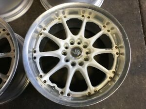 LIKE CE28 VOLK RACING GT-N WHITE MAGS 17INCH 5X114.3 FOR SALE
