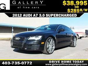 2012 Audi A7 3.0 Supercharged $289 bi-weekly APPLY NOW DRIVE NOW