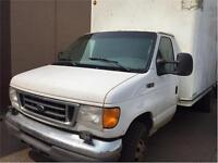 2004  FORD E450 CUBE VAN 16' DIESEL NEW TIRES (OR RENT!!