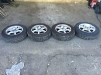 SET OF CITROEN SAXO WHEELS & TYRES 14""