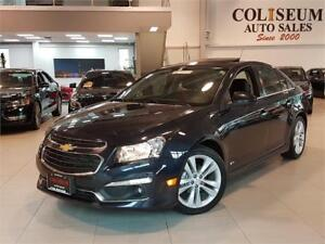 2015 Chevrolet Cruze 2LT-RS-SPORT-AUTO-LEATHER-SUNROOF-ONLY 60KM