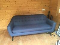 Madedotcom Ritchie 3 Seater Sofa, Scuba Blue