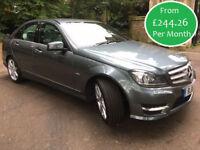 £244.26 PER MONTH 2011 MERCEDES BENZ C250 2.1CDI BlueEF SPORT AUTO 4 DOOR DIESEL