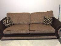 Two matching settees for sale.