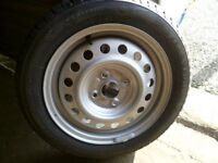 2 Brand new winter tyres and wheels. 155/55R15 FIRESTONE