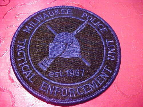 MILWAUKEE WISCONSIN TACTICTICAL ENFORCEMENT POLICE PATCH SHOULDER SIZE NEW 3 X 3