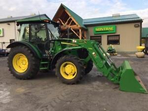 2011 JOHN DEERE 5105M TRACTOR WITH CAB AND LOADER