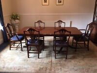 Dining Room Suite-Table, chairs, Glass Display Cabinet, Storage Cabinet, CD Rack