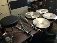 Cymbals,stands and seat