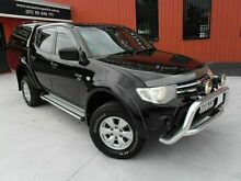 2010 Mitsubishi Triton MN MY10 GL-R Double Cab Black 4 Speed Automatic Utility Molendinar Gold Coast City Preview