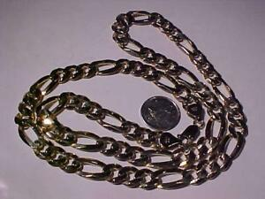 14K Figaro link hefty(almost 60 grams of 14k) chain with lobster claw closure    Hallmarked and guaranteed  14k ItALY