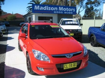 2008 Hyundai i30 FD SLX Red 4 Speed Automatic Hatchback Tuncurry Great Lakes Area Preview