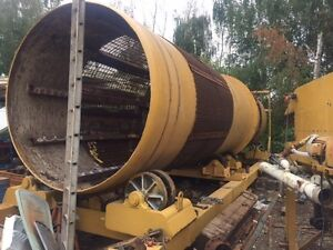 Gold Trommel 8 foot diameter by 40 feet long, 400 yard per hour