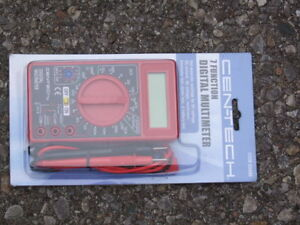NEW CEN-TECH 7 FUNCTION DIGITAL MULTIMETER