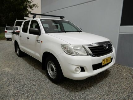 2011 Toyota Hilux GGN15R MY10 SR 4x2 White 5 Speed Automatic Utility Glendale Lake Macquarie Area Preview