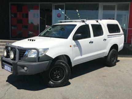 2011 Toyota Hilux SR (4x4) KUN26R MY12 DUAL CAB P/UP 3.0L DIESEL TURBO 4 5 SP  White Manual Dual Cab Como South Perth Area Preview
