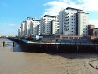 **** HOT HOT 1 BED OVERLOOKING THE THAMES- UNDERGROUND PARKING ***