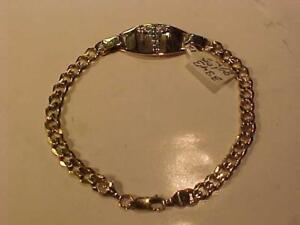 "#3343-MEDI*ALERT BRACELET-8 1/2"" LONG -OVER 1/3 OUNCE OF 10K GOLD-POLISHED READY for  ENGRAVING-LAYAWAY-S/H CANADA"