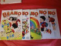 Beano Calendars Collection 1990, 91, 92, 93 &93.