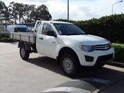2014 Mitsubishi Triton MN MY15 GL White 5 Speed Manual Cab Chassis Acacia Ridge Brisbane South West Preview